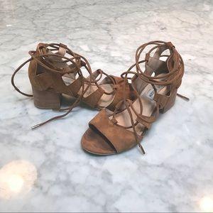 Steve Madden Ankle Tie Suede Block Heel Shoes